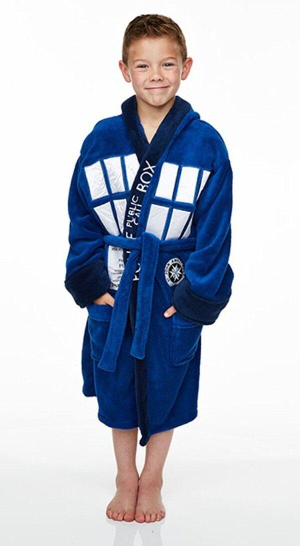 BBC TV Dr Who Tardis Fleece Dressing Gown Bath Robe (Child Sizes - Large) [FBA] [HIDDEN]