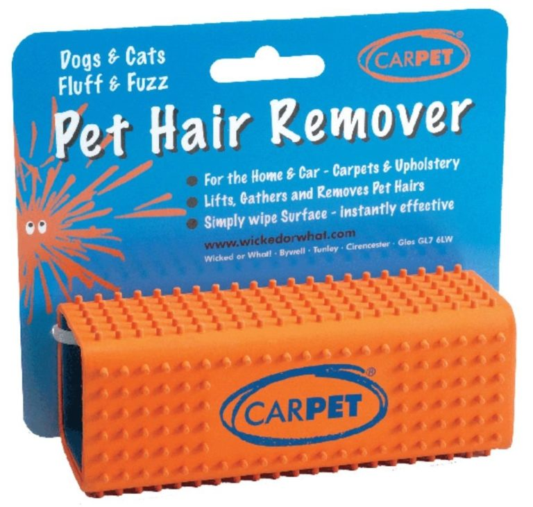 Car-Pet Pet Hair Remover Removes Hairs and Fluff from Carpets and Upholstery - orange