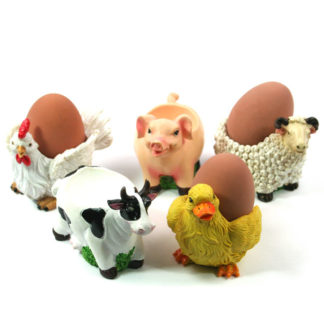 Animal Eggcup For Boiled Egg Farmyard / Garden / Pet Dog / Cat