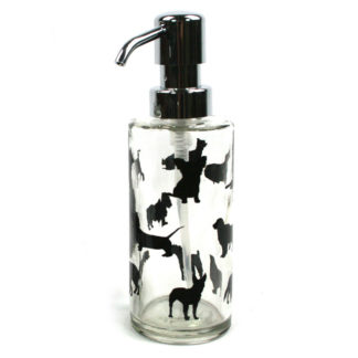 Animal Print Glass & Chrome Soap Pump Dispenser