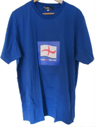 Come On England Flashing Light Cotton Crew Neck Short Sleeve T-Shirt