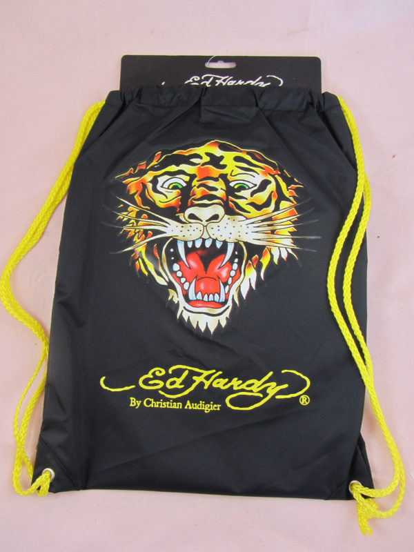 Ed Hardy Drew Drawstring Gym Shoe Sport School Bag Sack