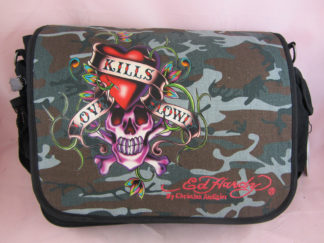 Ed Hardy Leo Messenger Satchel Travel School Shoulder Bag