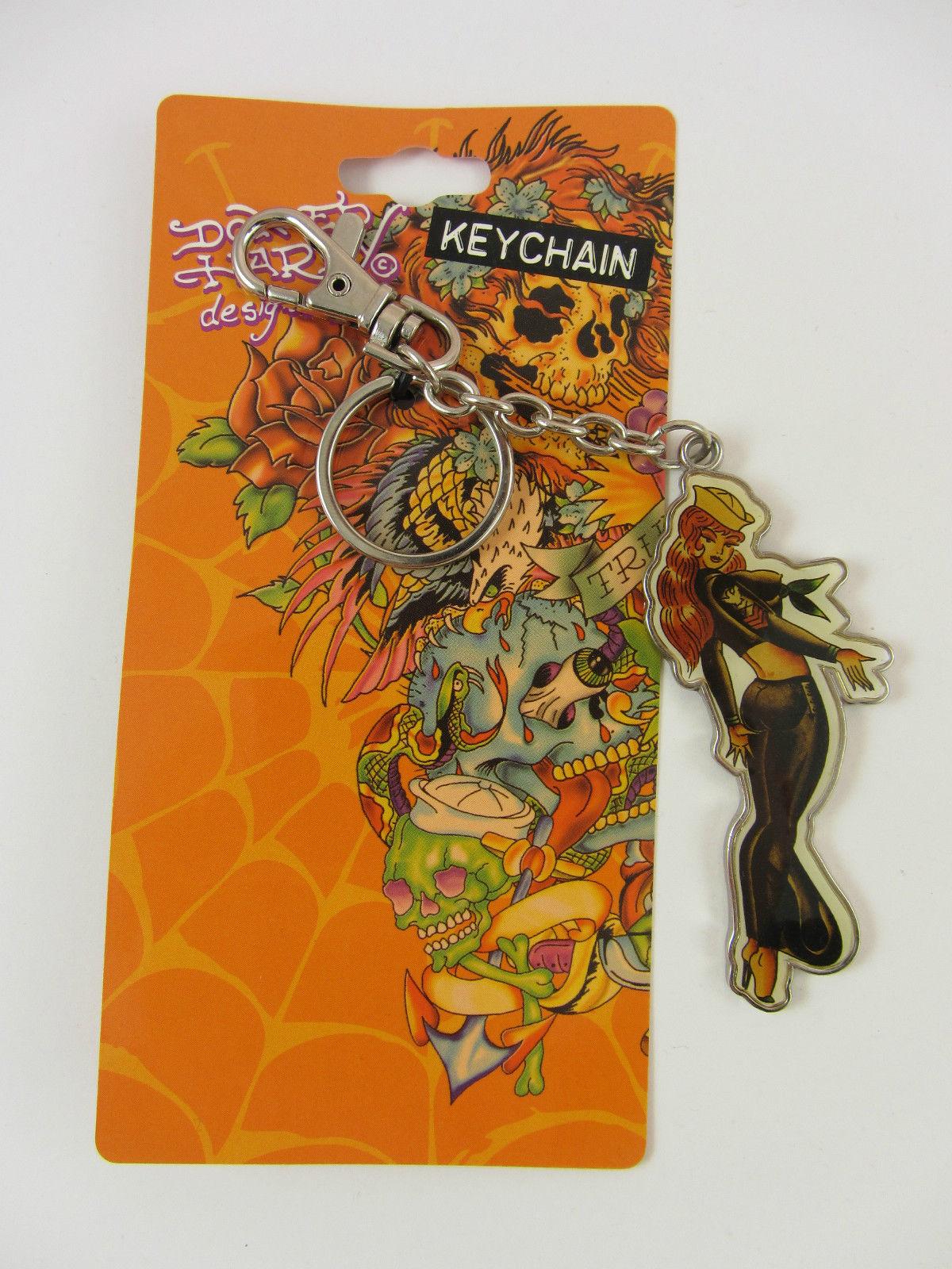 buy popular e3667 87316 Ed Hardy Tattoo Design Keychain Keyring