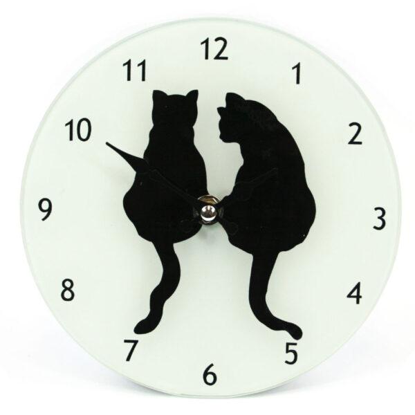Large Glass Animal Print Design Wall Clock