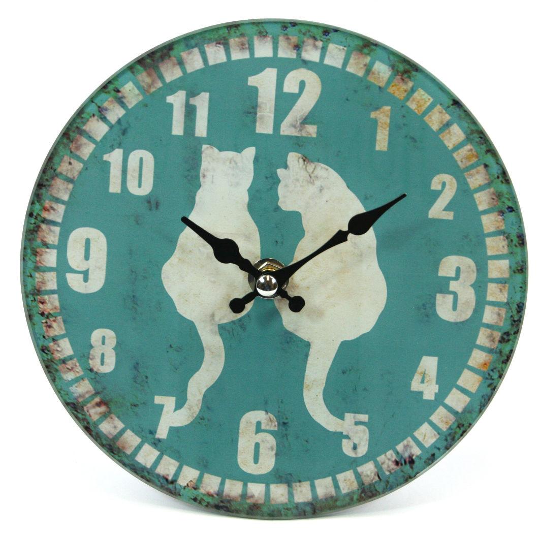 Glass Animal Print Design Wall or Free-Standing Clock