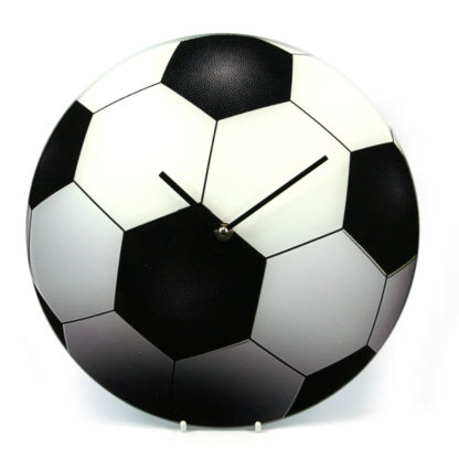 Glass Sports Ball Design Wall or Free-Standing Clock