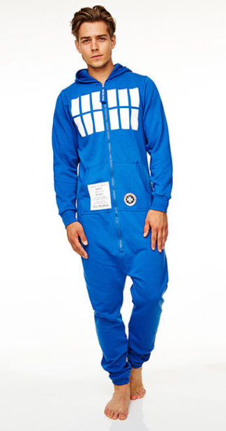 Jumpsuit Hooded All-in-One Onesie Dr Who Tardis