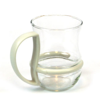 Tea Coffee Glass Mug with Coloured Detachable Handle