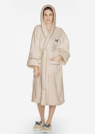 09c90442d96b Touch At Own Peril Grumpy Cat Hooded Dressing Gown Robe