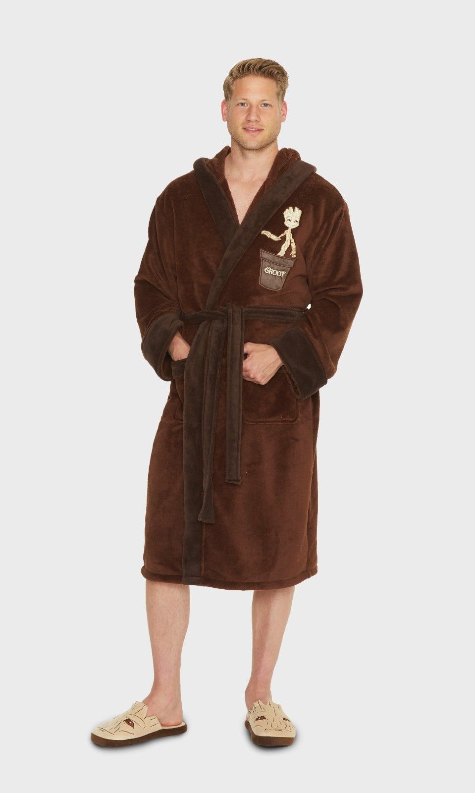 Marvel Guardians of the Galaxy Groot Hooded Dressing Gown Robe ...