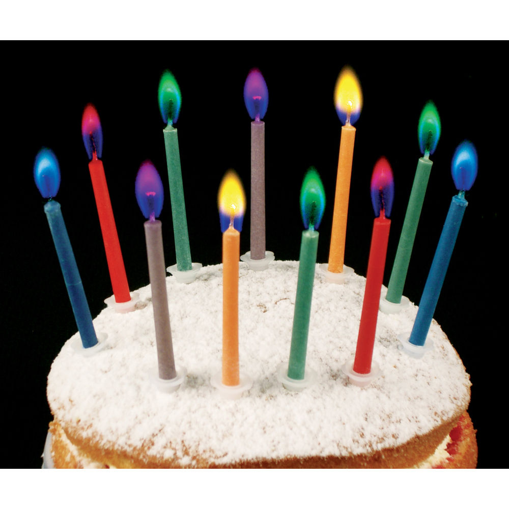 Pleasant Angel Flames Coloured Flame Cake Candles Holders Included Personalised Birthday Cards Arneslily Jamesorg