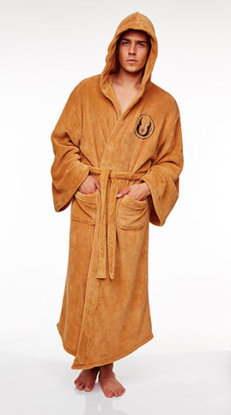Star Wars Jedi Obi-Wan Kenobi Fleece Hooded Dressing Gown Bathrobe ...