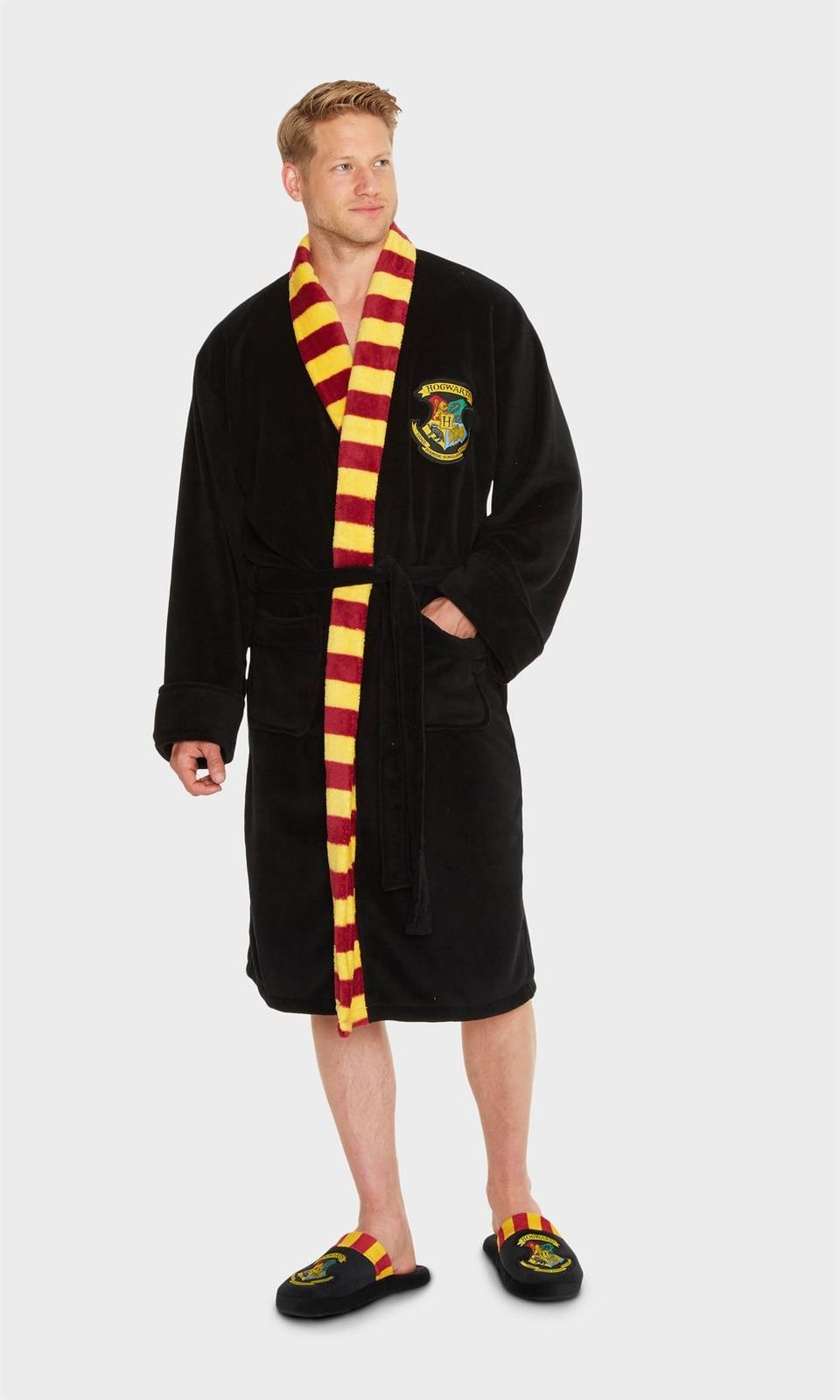 Mens Harry Potter Hogwarts Dressing Gown with Scarf Detail – Simply ...